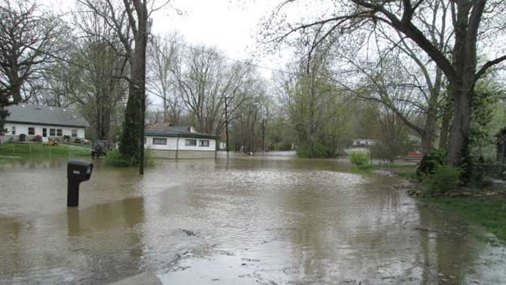 severe flooding in neighborhood