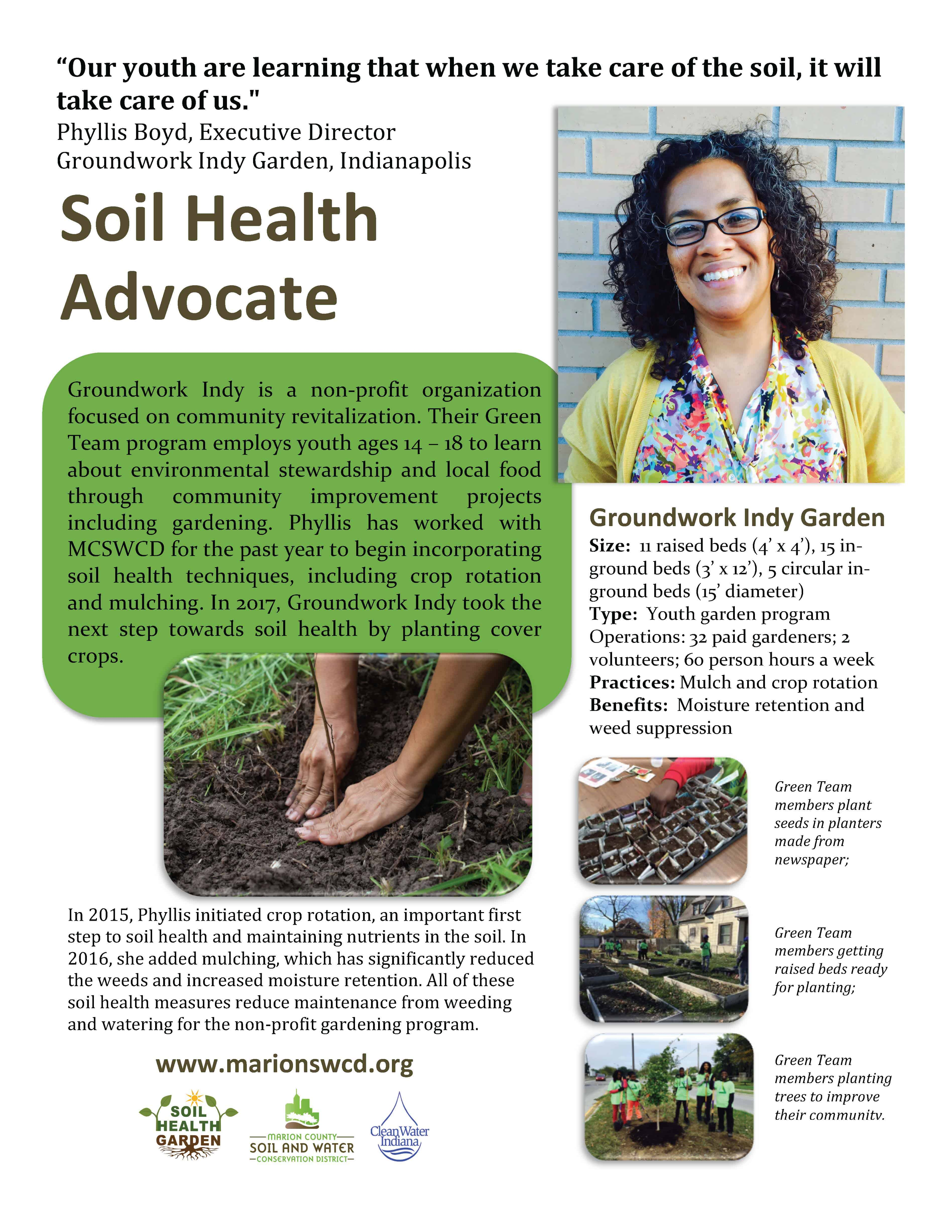 groundwork indy phyllis boyd - grower profile fact sheet