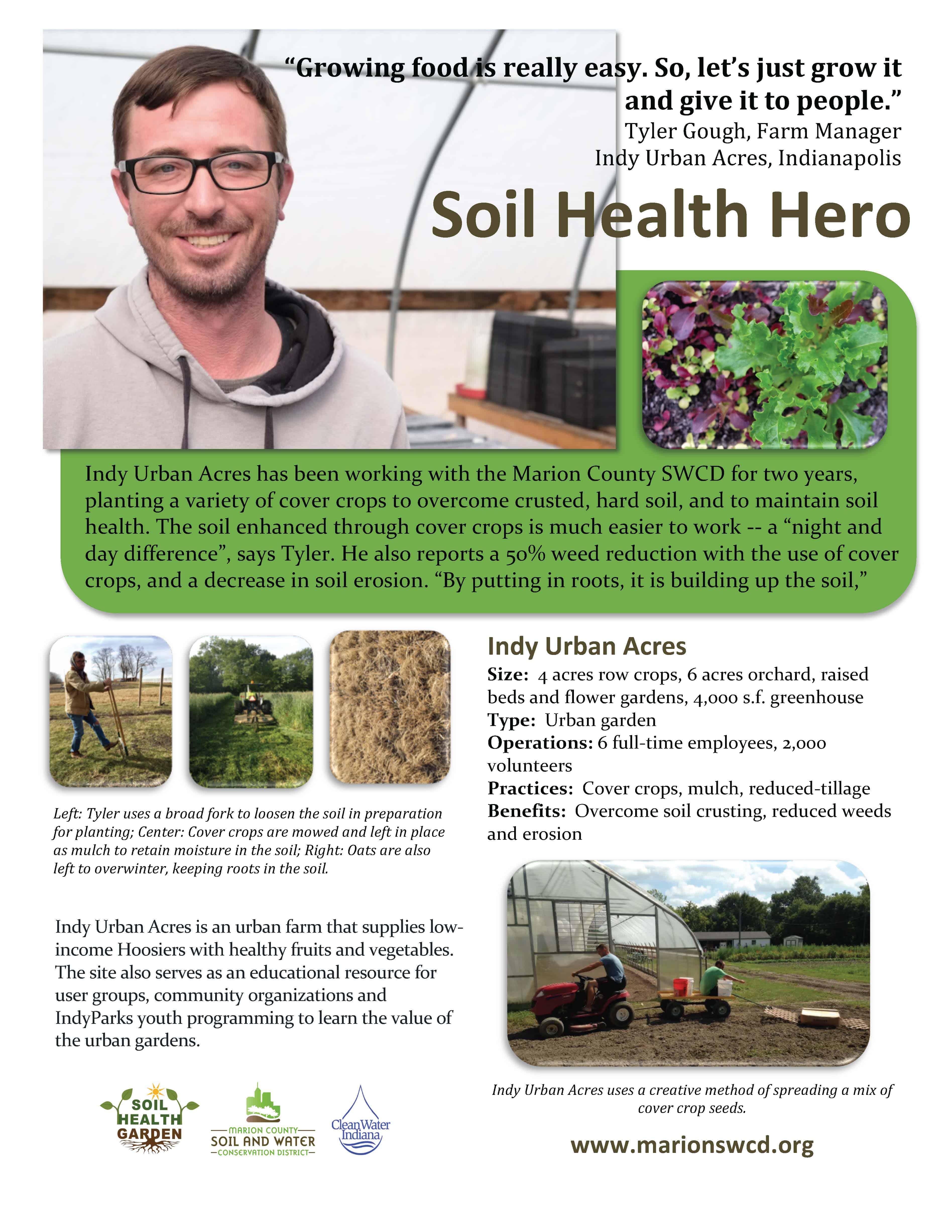 tyler gough indy urban acres - grower profile fact sheet