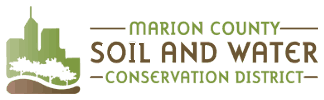 Marion County Soil and Water Conservation District log with buildings and trees