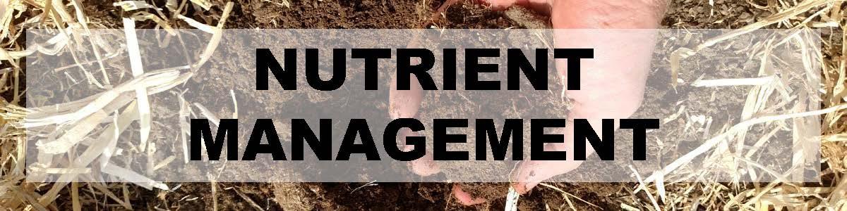 Nutrient Management Header - image of hands holding soil