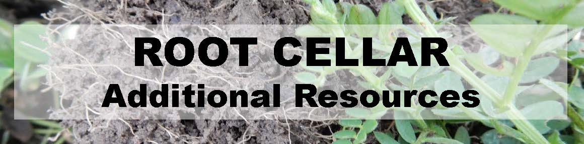 Root Cellar - Additional Resources - Header - image of hairy vetch cover crop roots